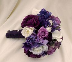 Purple Artificial Wedding bouquet Made to Order by AmoreBride, $75.00. These r the bm to go with that one