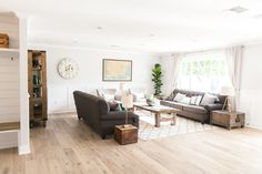 Open living area with natural light - as featured on 'Rafterhouse' pilot episode on HGTV.