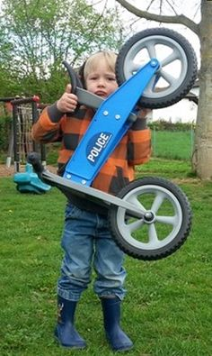 Tourer Police balance bike by Redtoys great for outdoor play