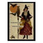 Halloween Witch Bats Moon Owl Skull Card #halloween #happyhalloween #halloweenparty #halloweenmakeup #halloweencostume