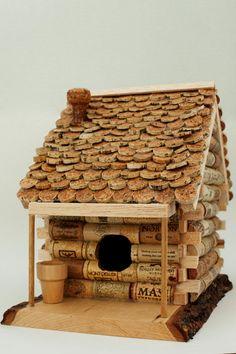 Wine Cork Birdhouse by LauzlaCreations on Etsy