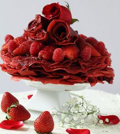 Check out this lovely Red Velvet Crepe Cake.