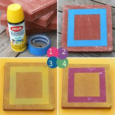 Yeah Vintage: DIY CUSTOM STEPPING STONES with spray paint and painters tape
