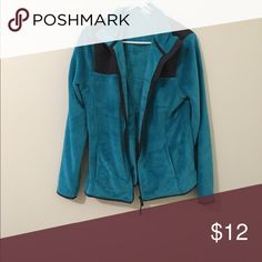 Turquoise jacket Really soft, comfy jacket. Worn a handful of times, but still in great condition and it keeps you super warm! Danskin Tops Sweatshirts & Hoodies