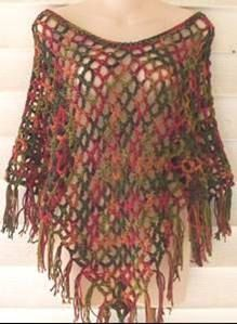 The 3 Hour 3 Dollar Crochet Poncho Pattern by kjbryandesigns. Could wear this as a hip scarf or fringe for fusion bellydance - switch up colours.