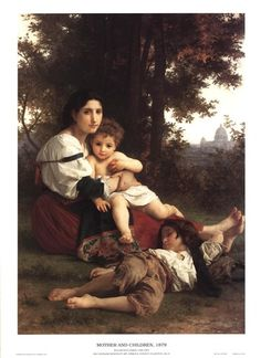 Mother and Child by William Adolphe Bouguereau, 1879 Cleveland Museum of Art William Adolphe Bouguereau, Classic Paintings, Beautiful Paintings, Contemporary Paintings, Carl Spitzweg, Jean Leon, Minnie Driver, Munier, Cleveland Museum Of Art