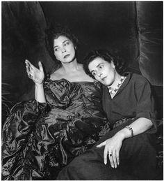Colomb Denise (dite), Loeb Denise (1902-2004) Leonor Fini et Leonora Carrington, 1952