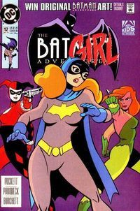 The Batman Adventures#12: Batgirl: Day One is issue twelve of the The Batman Adventures comic book series. It is also most notably the first comic book appearance of Harley Quinn. Barbara Gordon dresses up as Batgirl for a costume party which ends up being crashed by Harley Quinn, Poison Ivy, and Catwoman.  Happy birthday Harley! 09/12/1993