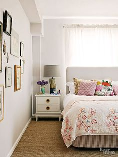 DON'T Be Afraid to Put Your Bed In Front of a Window Sometimes, in a small room, it's the only option if you want to also squeeze in dressers and nightstands. Plus, placing your bed in front of a window can create a super-strong focal point Small Space Living, Small Rooms, Small Spaces, Home Bedroom, Bedroom Decor, Bedroom Kids, Airy Bedroom, Clean Bedroom, Wall Decor