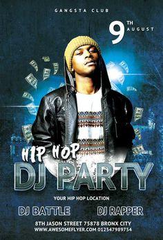 Free Hip Hop Battle DJ Party Flyer Template - http://freepsdflyer.com/free-hip-hop-battle-dj-party-flyer-template/ Free Hip Hop Battle DJ Party Flyer Template - This flyer template was designed to promote your next hip hop, rap, battle, dj, mc, beats, party and club events. This print ready premium flyer template includes a 300 dpi print ready CMYK file. All main elements are editable and customizable. #Bass, #Beats, #Club, #Dance, #Dj, #DjBattle, #EDM, #Electro, #Event,