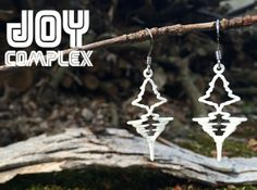"""French - """"Je t'aime"""" Sound Wave Earrings by JoyComplex Boucles d'oreilles qui chuchotent Je t'aime 
