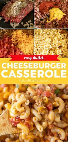 Cheeseburger Casserole, Beef Casserole, Casserole Dishes, Casserole Recipes, Pasta Recipes, New Recipes, Dinner Recipes, Weeknight Recipes, Weeknight Dinners