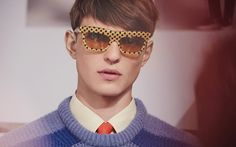 Burberry Wave Dot sunglasses in vibrant painterly tones for Spring/Summer 2014
