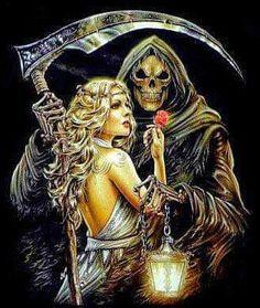 Grim Reaper & Sexy Girl