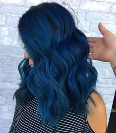 And videos from evvemi ( pastel blue hair, dark blue hair, hair Turquoise Hair Ombre, Pastel Blue Hair, Dark Blue Hair, Ombre Hair Color, Cool Hair Color, Royal Blue Hair, Dyed Hair Blue, Colorful Hair, Dark Red