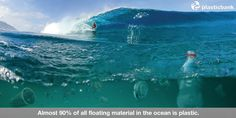 Almost 90% of all floating material in the ocean is plastic.  Please Pin to remind everyone to #recycle all plastics!