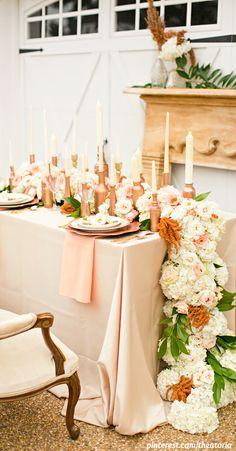 Wedding ● Tablescape  Reception Décor