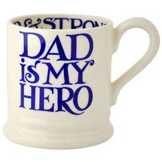 New EMMA BRIDGEWATER Dad Is My Hero 1/2 Half pint Mug 1st Quality USA Shipping #EmmaBridgewater