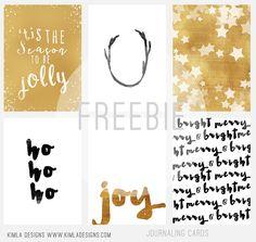 Kimla Designs & Photography Blog: Free Christmas Journaling Cards kimla designs