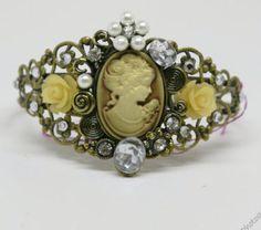 Cameo Bracelet  Victorian Style cuff bracelet, $24.95