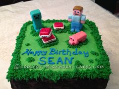 Coolest Minecraft Birthday Cake... Coolest Birthday Cake Ideas