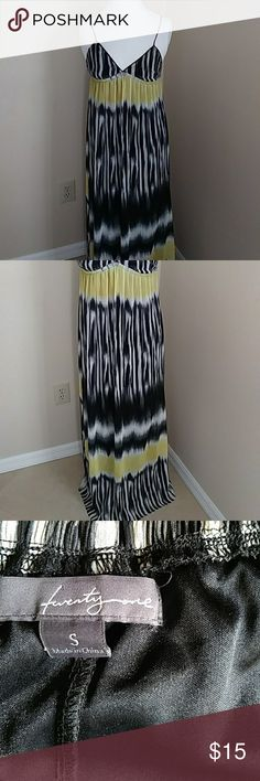 Forever 21 maxi length summer dress Very beutuful dress black grey yellow & Other Stories Dresses Maxi