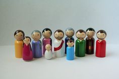 This Bible characters set is perfect for acting out Bible stories with your children or Sunday School class. They are painted with kid-friendly,