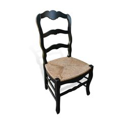 420 Country French Chair w Rush Seat