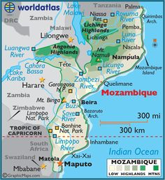 Mozambique Map / Geography of Mozambique / Map of Mozambique Maputo, Africa Map, Africa Travel, South Africa, Star Wars Watch, Peace Corps, World View, Countries Of The World, Holiday Destinations