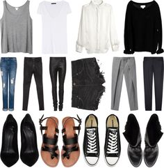 """""""the basic wardrobe"""" by couvertures ❤ liked on Polyvore"""