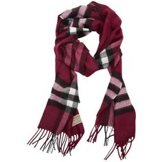 Burberry Giant Check Cashmere Scarf (1,240 ILS) ❤ liked on Polyvore featuring accessories, scarves, pink, checkered scarves, pink shawl, pink cashmere shawl, pink scarves and burberry