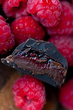 Raspberry Mocha Dark Chocolate Truffles and other great tarts and truffles on her site!