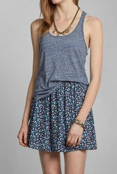 skirt and loose tank