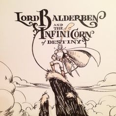 Lord Balderben and the Infinicorn of Destiny! This is a story I've been wanting to dig deeper into ever since I started drawing Balderben at the beginning of summer. At the end of the month I'll collect all the drawings and make a book which will be available in my shop both as a digital download and a print version. I'm super excited to see so many people taking on the Inktober challenge! You can do it! See you tomorrow! #inktober #LordBalderben