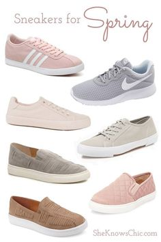 The best sneakers for spring spring style casual style mom style neautrals pastels Best Sneakers, Casual Sneakers, Shoes Sneakers, Sneakers Style, Cute Casual Shoes, Shoes Style, Pump Shoes, Style Casual, Casual Chic