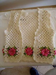 Fazer Flores De Croche | nao tenho o grafico desse colete