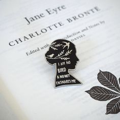 Jane Eyre Enamel Pin – Gothic Literature Collection – Jane Eyre Quote – Literature Gift – Enamel Pin Badge – Book Lover Gift – Feminist Pin by LiteraryEmporium Be Wolf, Jane Eyre Quotes, Books And Tea, Pins Badge, Book Lovers Gifts, Nerd Gifts, Book Gifts, Cool Pins, Pin And Patches