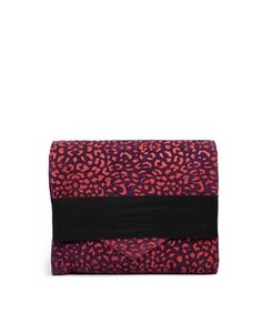 Pieces Meira Over Sized Suede Leo Clutch Bag