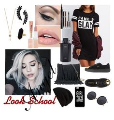 """""""Look School Angel"""" by sumoraeszanna on Polyvore featuring moda, Charlotte Russe, SONOMA Goods for Life, Puma, Rick Owens, Mehron, Rimmel, Givenchy, Too Faced Cosmetics e Gucci"""