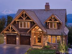 Learn how Riverbend can bring your dream of building a mountain style timber frame home to life. Browse mountain floor plans and timber home photos. Timber Frame Homes, Timber House, Timber Frames, Timber Frame Home Plans, Style At Home, Mountain Style, Mountain View, Mountain Homes, Mountain Range