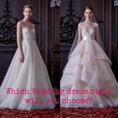 wedding dress style. Which wedding dress style will you choose?/ Whaterikawears.com