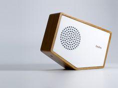 Interactive tilt radio by Luka Tilt on one side for AM Tilt onto the other for FM