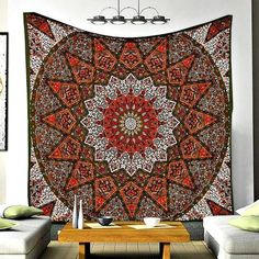 Jidian Mandala Star Pattern Bohemian Wall Boho Tapestry