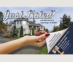 Ref 55003. Been seen locally as the most proactive realtor with just listed postcards for every new listing you take on