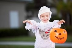 Use inexpensive emergency supplies to decorate, keep safe, and create costumes this #Halloween!