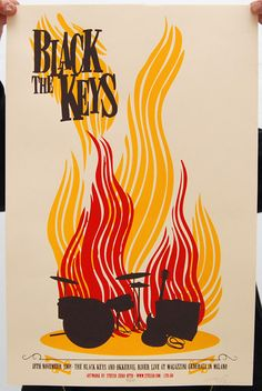 concert poster - black keys    Concert poster / gig poster / music / show poster / illustration / screen print / graphic design