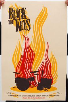 concert poster - black keys    Concert poster / gig poster / music / show poster / illustration / screen print / graphic design