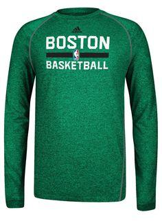 0c96aa7e5 adidas Celtics Climalite Long Sleeve Practice T-Shirt  Green
