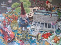 Garden gnomes AND accordions!? YES!!