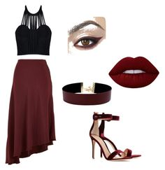 """Sultry vixen"" by jill-hubbard on Polyvore featuring Gianvito Rossi, TIBI, Vanessa Mooney, Lime Crime and Posh Girl"